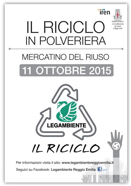 Il Riciclo - 11 Ottobre - mercatino dell'usato in Polveriera (RE) Volant10
