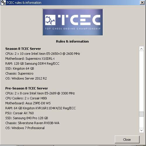 TCEC Saison 8 Engine10