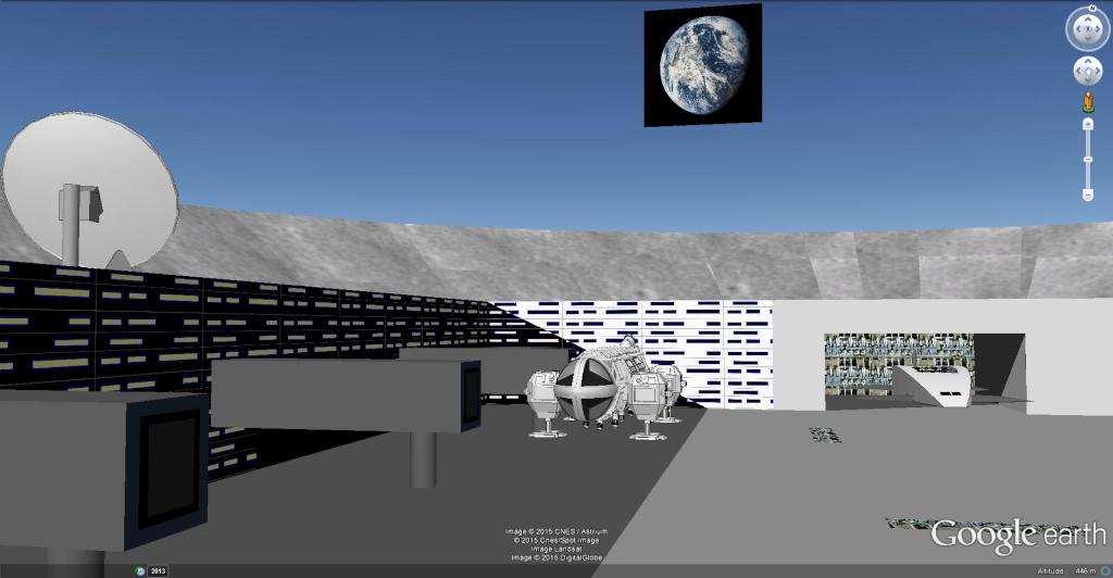 Moon base 2060, Algérie [Les créations en 3D Sketchup] Moon_b12