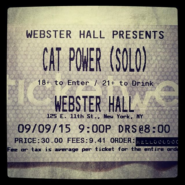 9/9/15 - NYC, Webster Hall 112