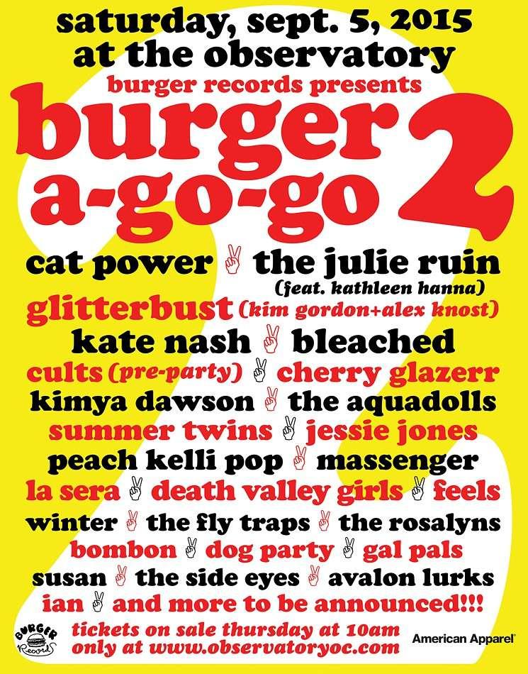 "9/5/15 - Santa Ana, CA, The Observatory, ""Burger A-Go-Go 2 Festival'' 9-5-1510"