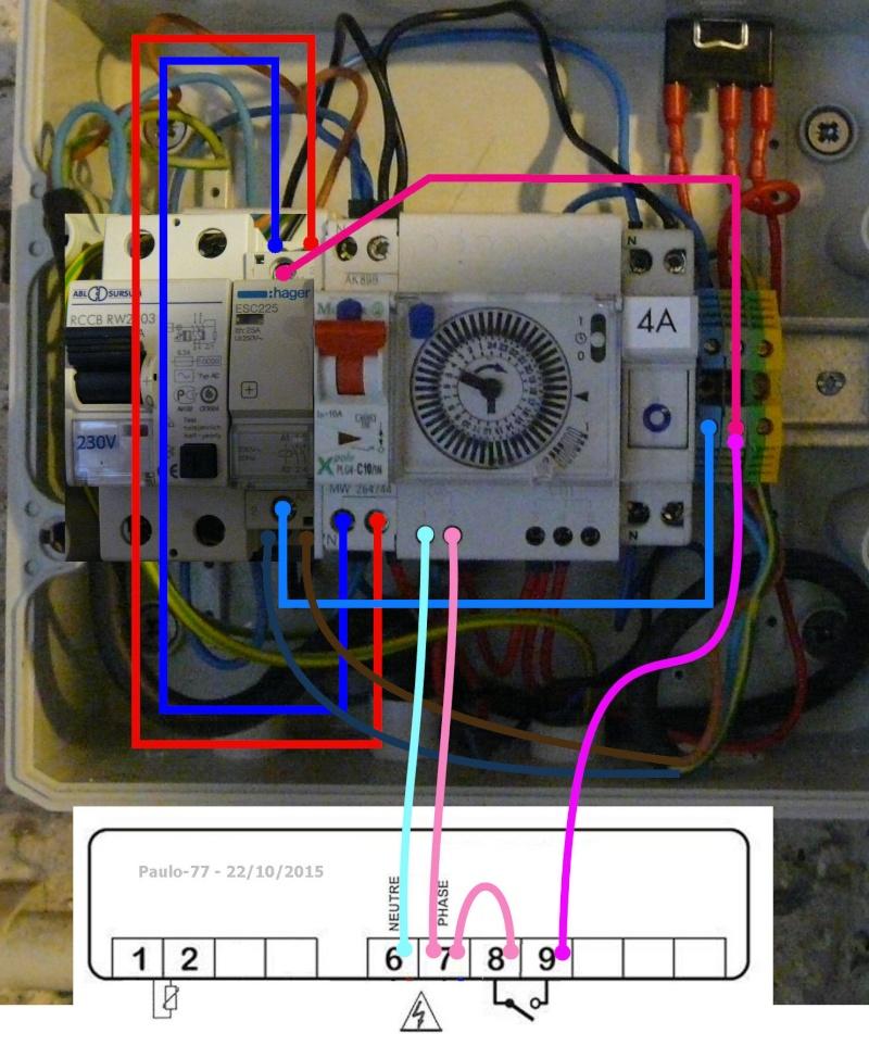 SCHEMA ELECTRIQUE BRANCHEMENT GEL'ELEC  P-105010