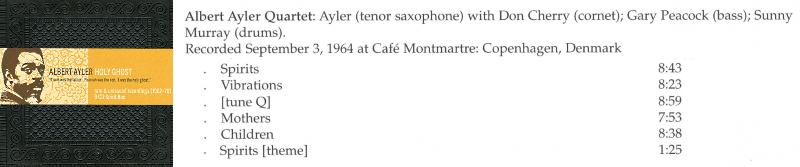 [Jazz] Playlist Aayler10