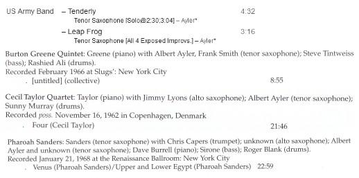 [Jazz] Playlist Ayler110