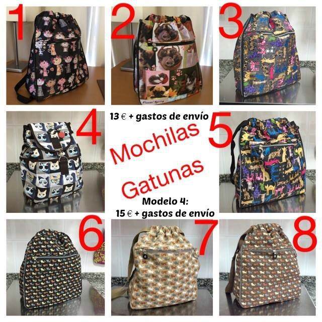 Mochilas Gatunas ¡VOLVEMOS A  TENER! Montaj11