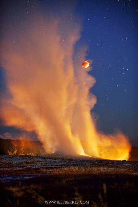 El eclipse lunar de anoche en Yellowstone.  11207310