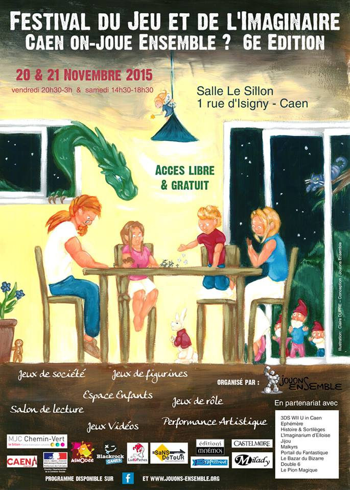 [Annulé]Festival de jeu : Caen, on joue ensemble 6ème édition. Fje610