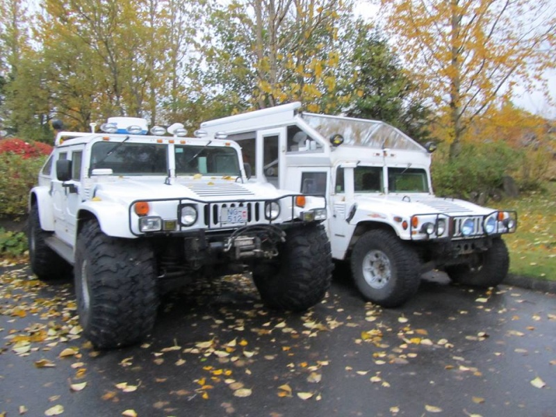 """HUMMER H3 pneu en 35"""" / HUMMER H1 pneu en 49"""" / HUMMER H1 pneu en 38.5"""" en Islande ... du gros gros pneu !!! 12118910"""