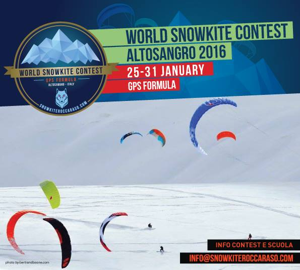 World snowkiting contest Altosangro 2016 - GPS Formula. 12144810