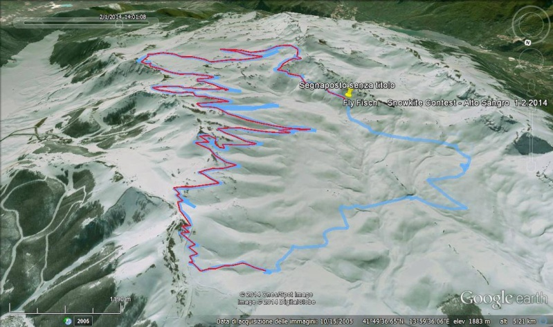 World snowkiting contest Altosangro 2016 - GPS Formula. Track-10