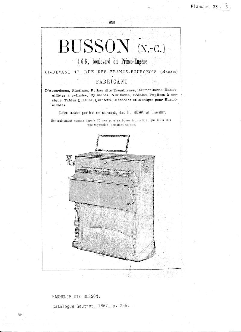 Harmonium à cylindre - BUSSON - BREVETÉ, Paris Busson10