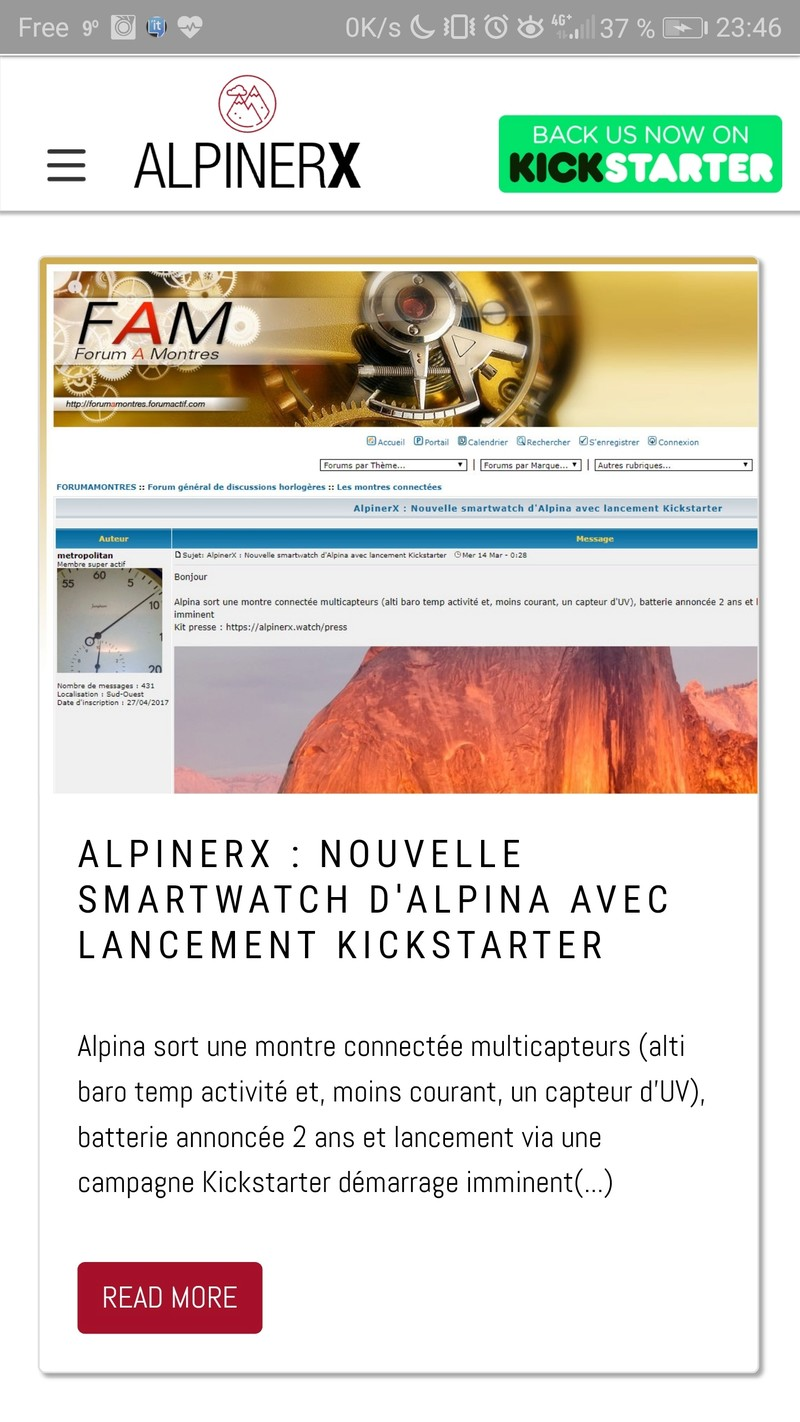 AlpinerX : Nouvelle smartwatch d'Alpina avec lancement Kickstarter - Page 2 20180310