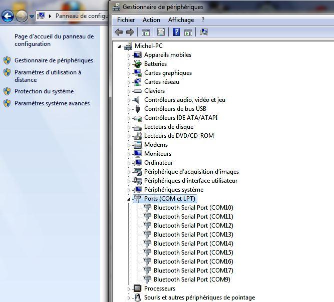 quel logiciel avec une arche robitronic ? Port_c10