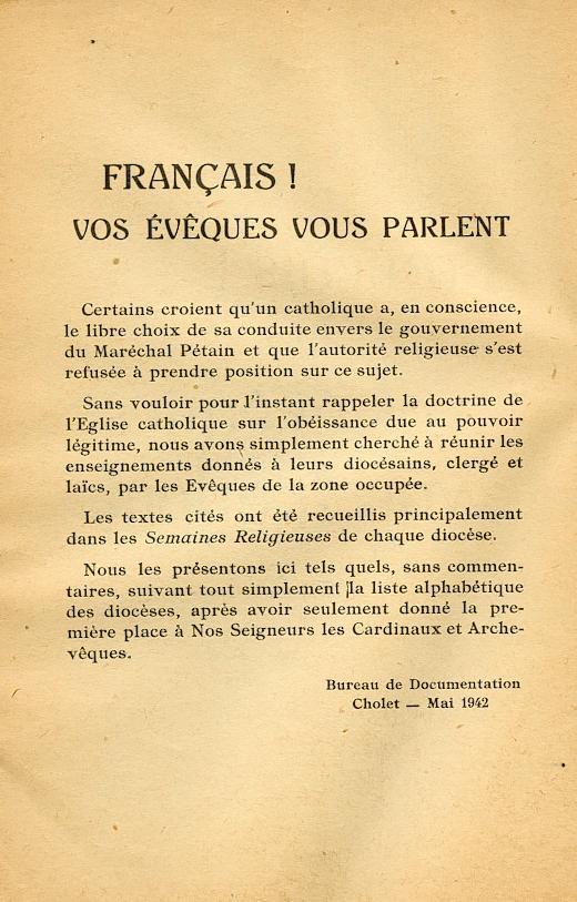 """""""Français ! vos évêques vous parlent..."""" (Recueil publié en 1942) Franya11"""