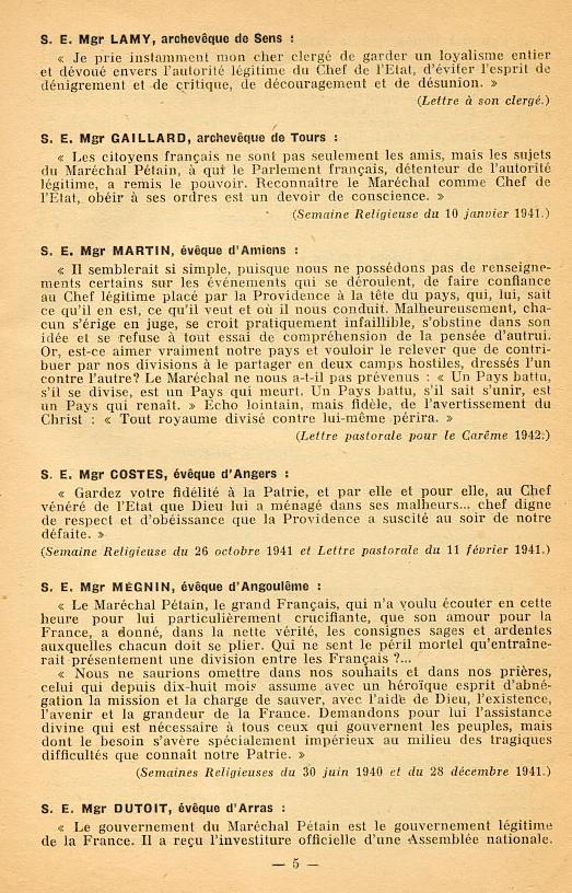 """""""Français ! vos évêques vous parlent..."""" (Recueil publié en 1942) Franya14"""