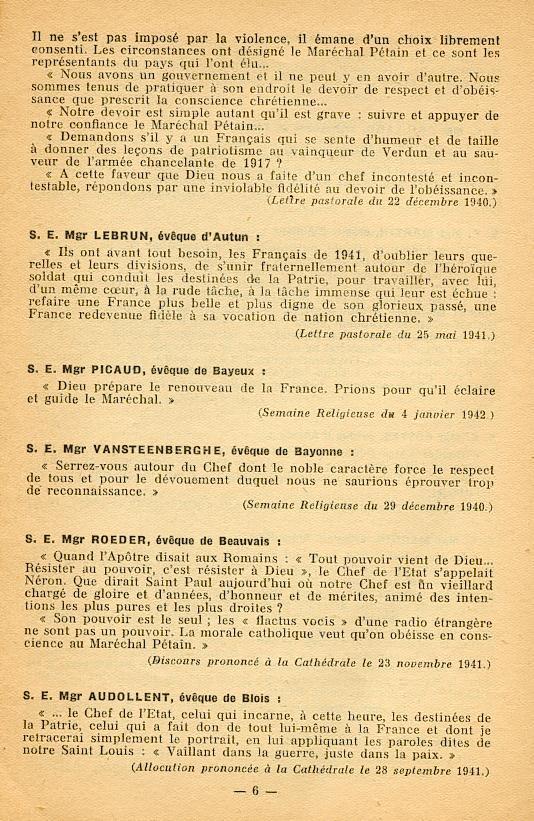 """""""Français ! vos évêques vous parlent..."""" (Recueil publié en 1942) Franya15"""