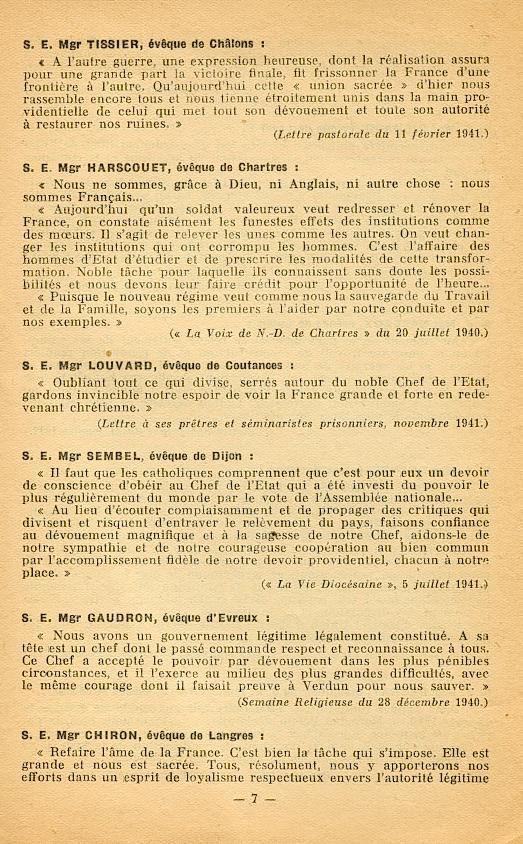 """""""Français ! vos évêques vous parlent..."""" (Recueil publié en 1942) Franya16"""