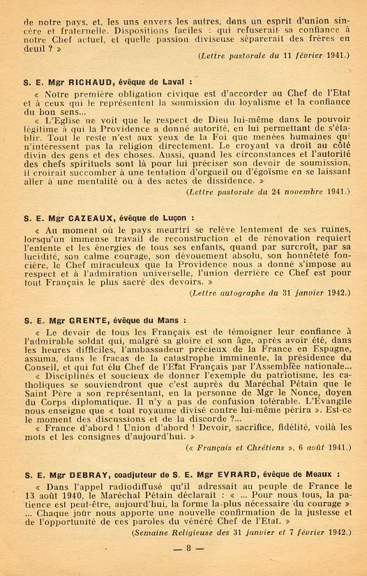 """""""Français ! vos évêques vous parlent..."""" (Recueil publié en 1942) Franya17"""