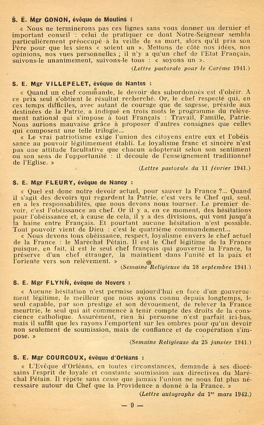 """""""Français ! vos évêques vous parlent..."""" (Recueil publié en 1942) Franya18"""
