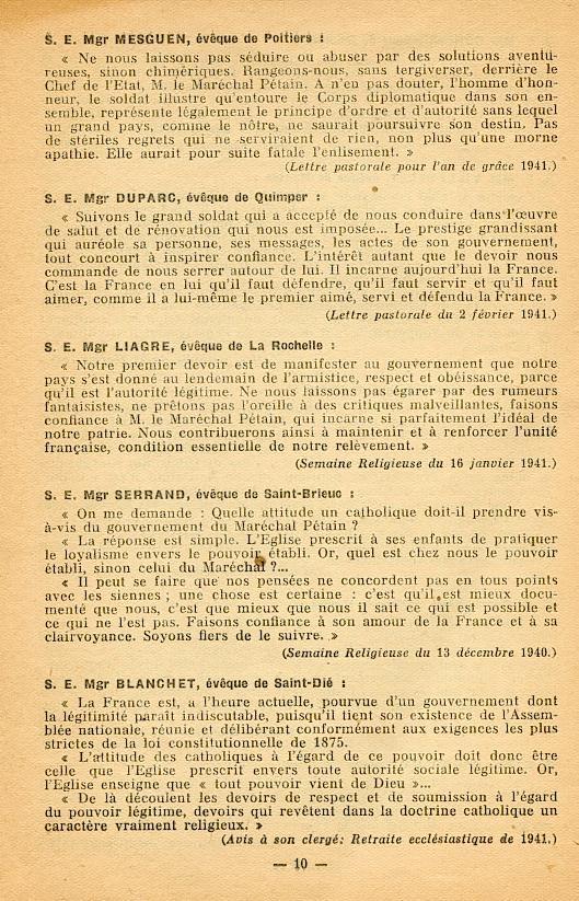 """""""Français ! vos évêques vous parlent..."""" (Recueil publié en 1942) Franya19"""