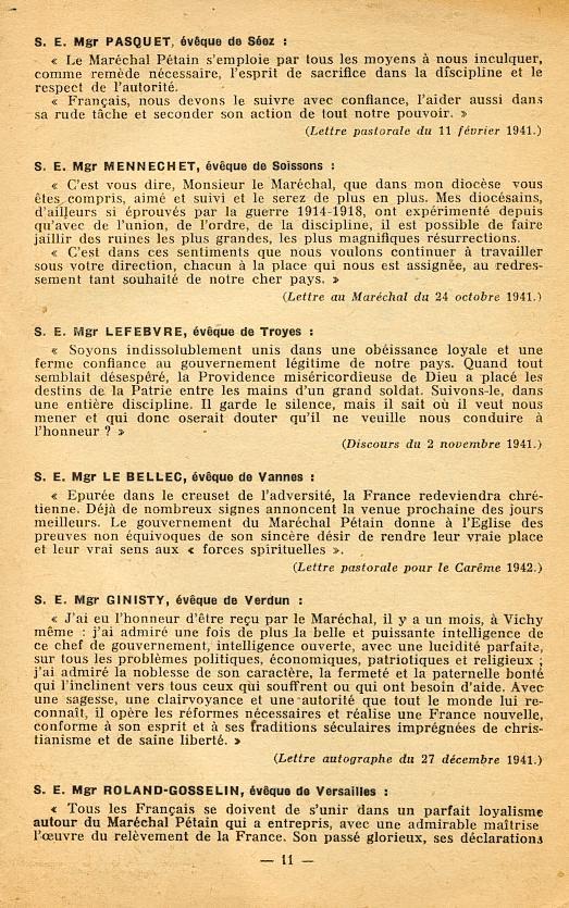 """""""Français ! vos évêques vous parlent..."""" (Recueil publié en 1942) Franya20"""