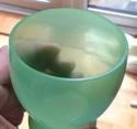 Pair of green glass beakers Image37