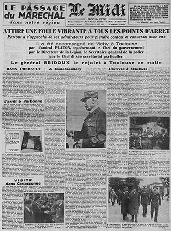 Visite du Maréchal Pétain à Narbonne Narbon10