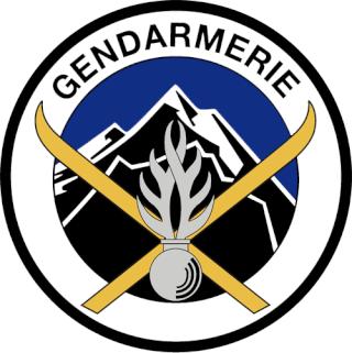 Unités de montagne de la Gendarmerie nationale . Ecusso10