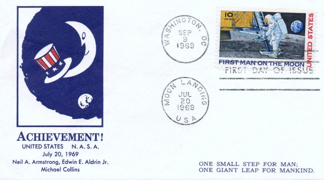 Philatélie Spatiale USA - 1969 - Timbre Apollo 11 1969_010