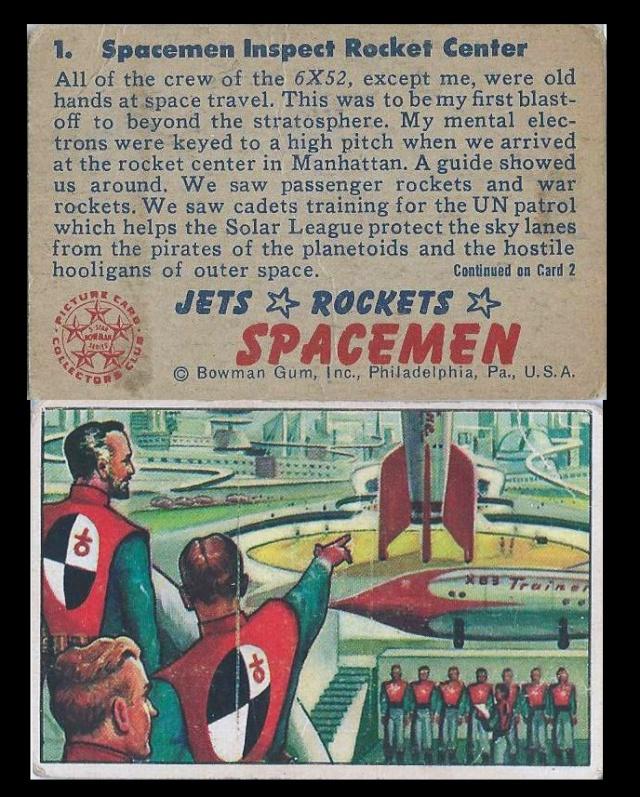 Les cartes (Trading Card) JETS ROCKETS SPACEMEN de 1951 Bowman10