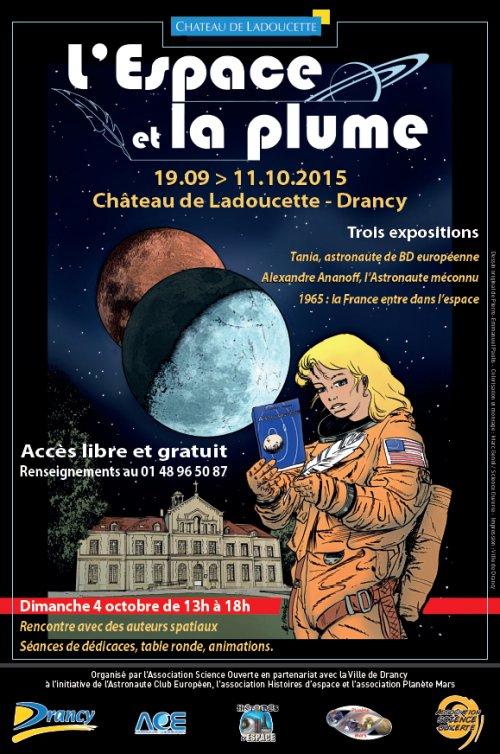 Dimanche 4 octobre 2015 - 2ème rencontres de l'Espace et la Plume à Drancy (93) - Expositions spatiales E_p20111