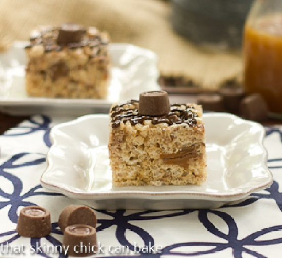 Rice Krispies aux Rolos Carame11