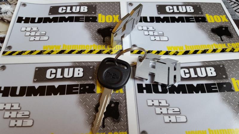 Porte-clé Hummerbox inox massif  20151011