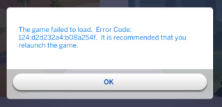 Error Code 124 when trying to return home from Jungle Adventure Error10