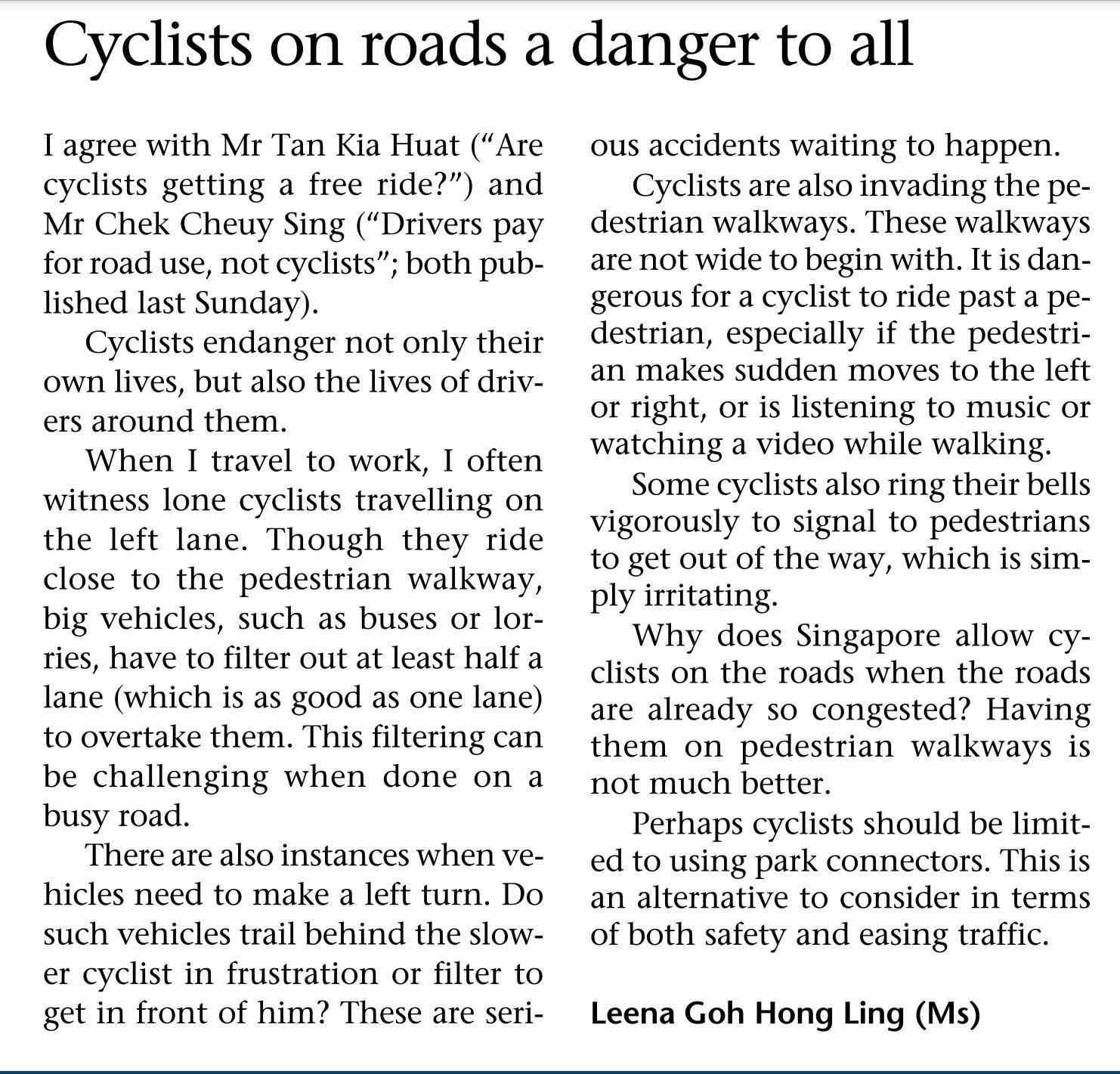 Les cyclistes urbains sont-ils des dangers publics ?  11083910