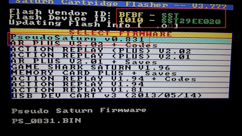 Lire les Backup sur Saturn sans puce  210