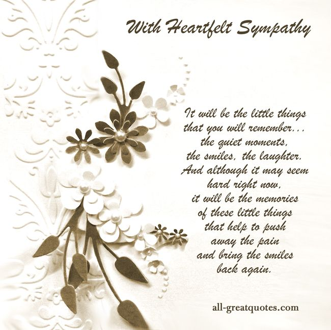With deepest sympathy 1c875e10