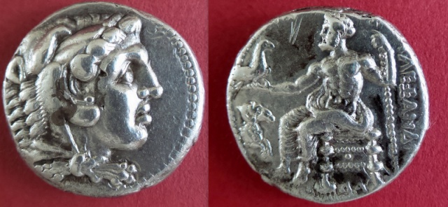 tetradrachme Alexandre le grand Damas Syrie Charge10