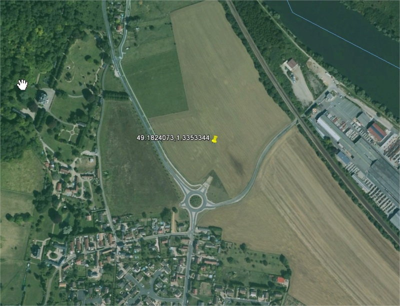 1990: le 05/11 à 19h30 - Lumière étrange dans le ciel  -  Ovnis à Aubevoye - Eure (dép.27) Aubevo10
