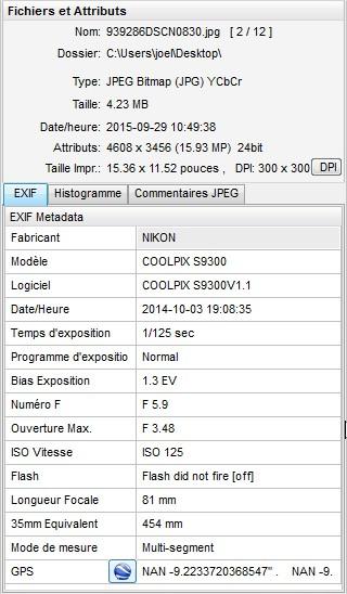 2015: le 28/09 à couché du soleil - Gros objet, lumière bleu forte -  Ovnis à Doucier - Jura (dép.39) Exif111