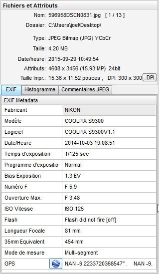 2015: le 28/09 à couché du soleil - Gros objet, lumière bleu forte -  Ovnis à Doucier - Jura (dép.39) Exif211