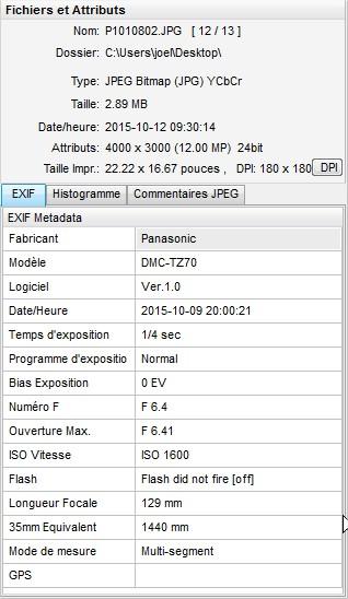 2015: le 09/10 à 20h00 - Boule de feu traversant le ciel -  Ovnis à Paris XV - Paris (dép.75) Exif310