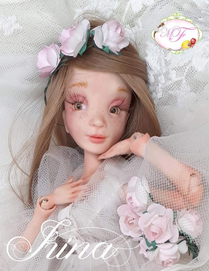 VENTE poupées d'artiste, BJD en polymère faits main -Flora  20180410
