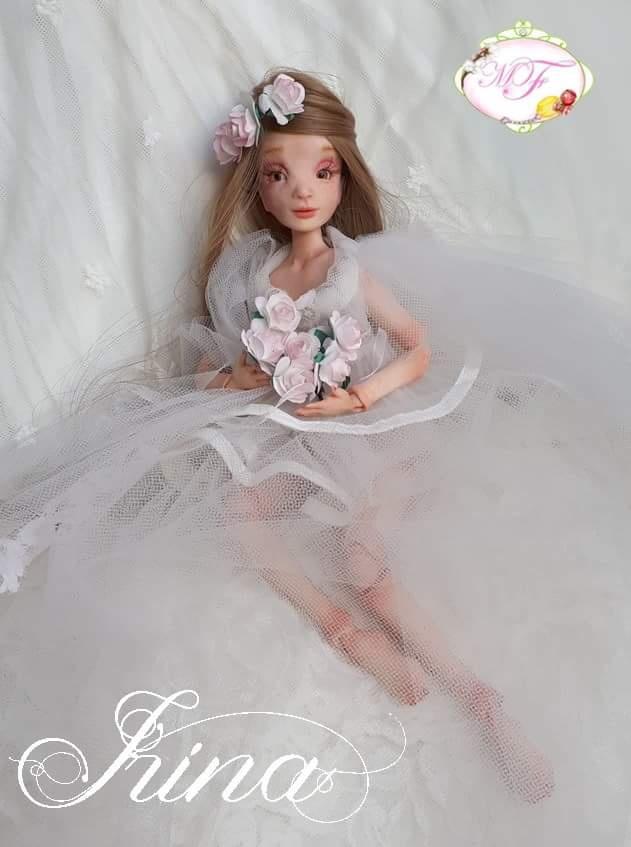 VENTE poupées d'artiste, BJD en polymère faits main -Flora  20180412