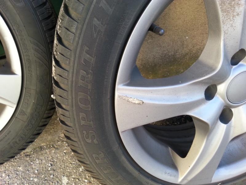 """[VDS] 4 jantes 16"""" équipées de pneus hiver - Prix en Baisse 250€ 20151115"""
