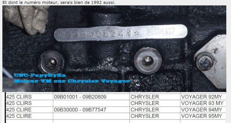 définir l'année d'un moteur Captur66