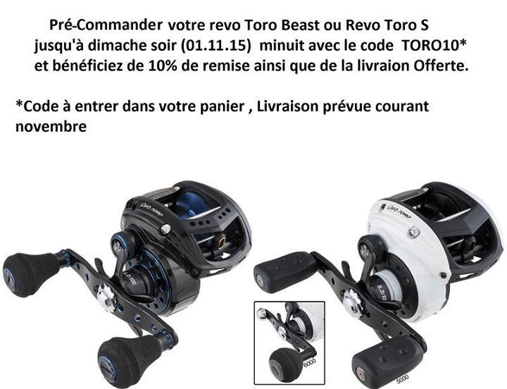 Offre Moulinet casting Revo Toro Beast / Revo Toro S 11138112