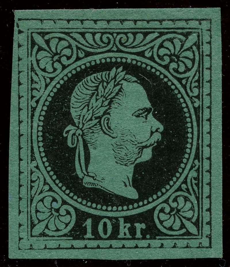 Freimarken-Ausgabe 1867 : Kopfbildnis Kaiser Franz Joseph I - Seite 9 38_and10
