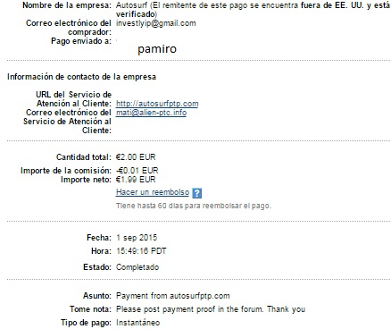 My 3er payment thanks admin !! Autosu10