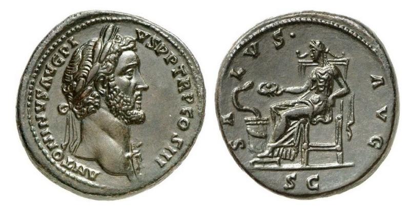 Bronzes antiques regravés : avant - après J310